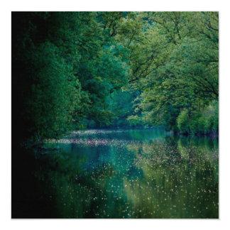 O rio • Cartão/convite quadrados
