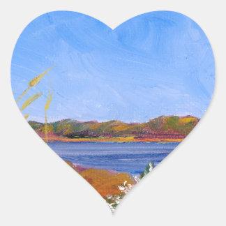 O Rio Delaware dourado Adesivo Coração