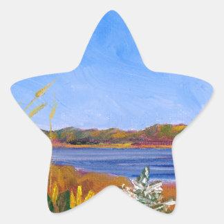 O Rio Delaware dourado Adesivo Estrela