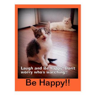 O riso e seja cartão feliz
