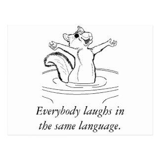 O riso é universal cartão postal