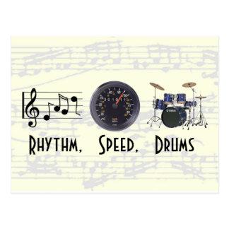 O ritmo, velocidade, rufa o cartão