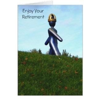 O robô gosta do cartão da aposentadoria da