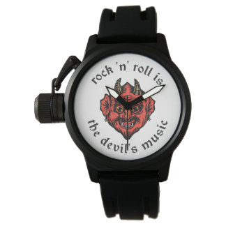 O rock and roll é o relógio da música do diabo