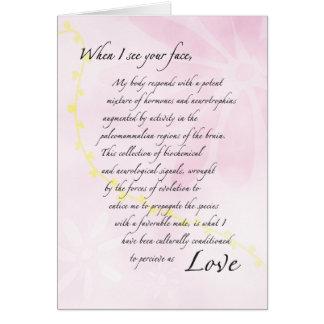O romance comer-se-á cartão comemorativo