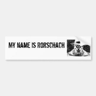 o rorschach, meu nome é autocolante no vidro trase adesivo