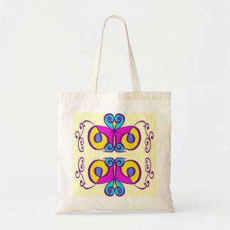 O rosa amarelo e as máscaras do abstrato do azul bolsa para compras