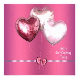 O rosa Balloons o convite de festas ó do aniversár