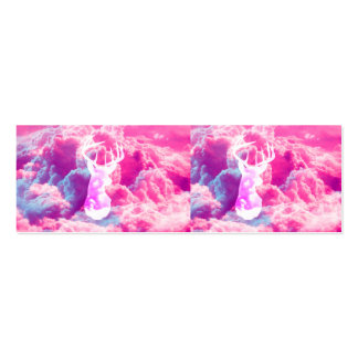 O rosa brilhante do vetor feminino da cabeça dos c cartão de visita skinny
