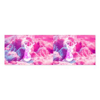 O rosa brilhante do vetor feminino da cabeça dos c cartão de visita