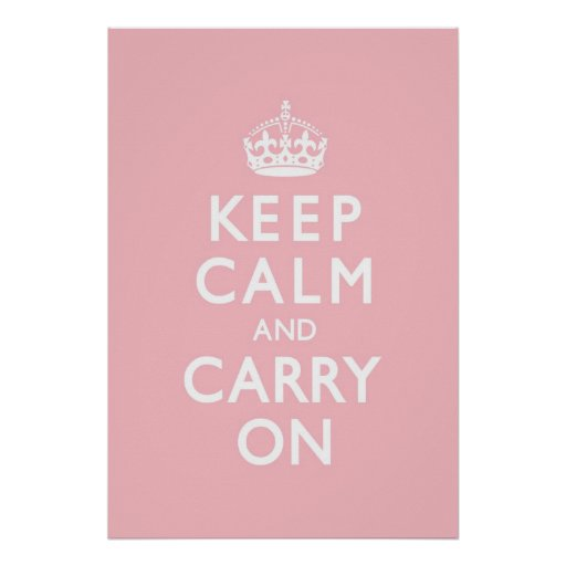 O rosa cor-de-rosa mantem a calma e continua pôster