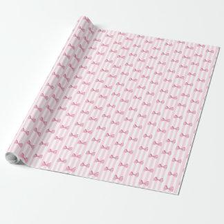O rosa curva o papel de embrulho do chá de fraldas