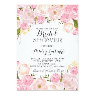 O rosa do chá de panela cora convite floral
