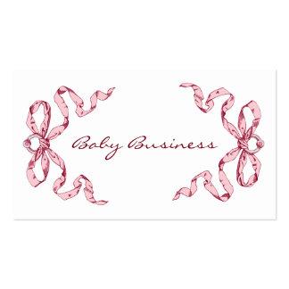 O rosa do negócio do bebê curva cartões de visitas