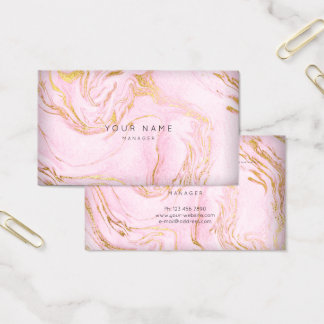 O rosa dourado do rosa cora o cartão de mármore da