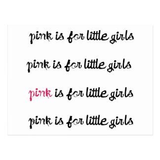 O rosa é para o presente das meninas