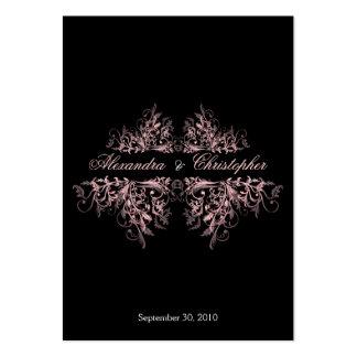 O rosa elegante roda anúncio do casamento de RSVP  Cartões De Visitas