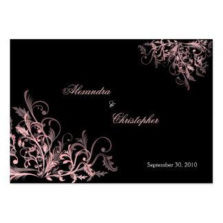 O rosa elegante roda anúncio do casamento de RSVP Cartão De Visita Grande