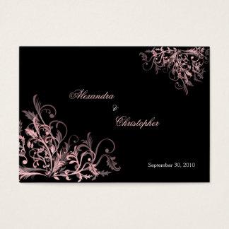 O rosa elegante roda anúncio do casamento de RSVP Cartão De Visitas