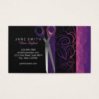 O rosa feminino à moda scissor o cartão da