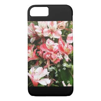 O rosa feminino floresce a capa de telefone