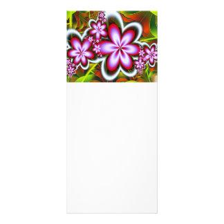 O rosa floresce a imagem do fractal 10.16 x 22.86cm panfleto