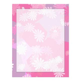O rosa floresce artigos de papelaria papel de carta
