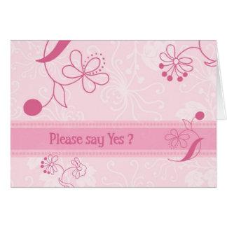 O rosa floresce o cartão do convite do florista