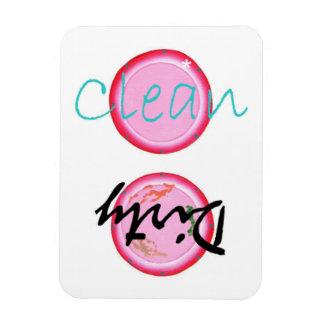 O rosa limpo sujo chapeia ímãs da máquina de lavar