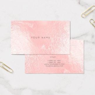 O rosa perolado do rosa cora cartão metálico da