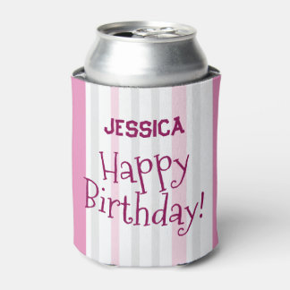 O ROSA personalizado do feliz aniversario adiciona