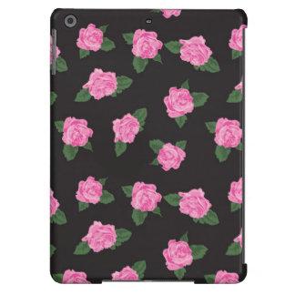 O rosa preto do rosa floresce o chique floral capa para iPad air