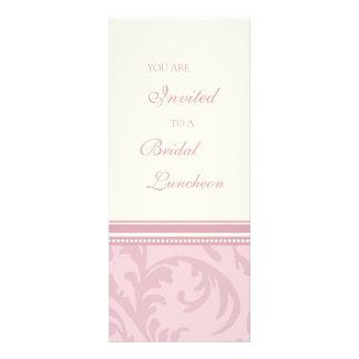 O rosa roda cartões nupciais do convite do almoço