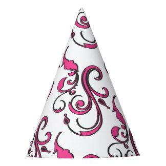 O rosa roda o chapéu de papel do partido
