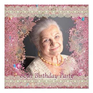 O rosa Sparkles festa de aniversário do 80 da foto