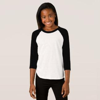O roupa americano das meninas 3/4 de t-shirt do camiseta