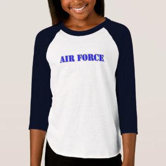 O roupa americano das meninas do U.S.A.F. 3/4 de T Camiseta