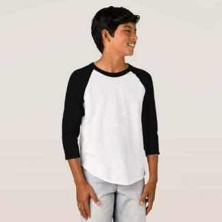O roupa americano dos miúdos 3/4 de t-shirt do camiseta