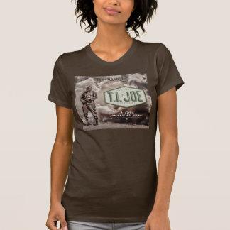 O roupa americano T.I. Orgânico das mulheres Camiseta