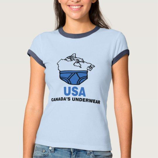 O roupa interior de Canadá Camiseta