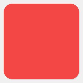 O ROXO COR-DE-ROSA VERMELHO liso protege diversas Adesivo Quadrado
