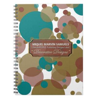 O roxo de Brown azul borbulha caderno moderno