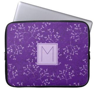 O roxo delicado ramifica a bolsa de laptop do capa de notebook