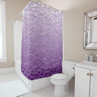 O roxo desvanece-se mini design do azulejo cortina para box