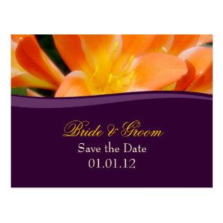O roxo e a laranja salvar o cartão da data