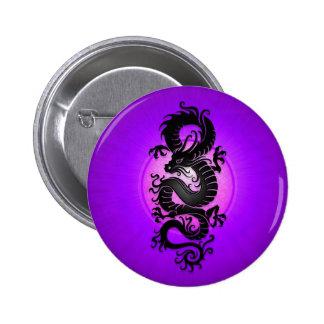O roxo estourou o dragão chinês botons