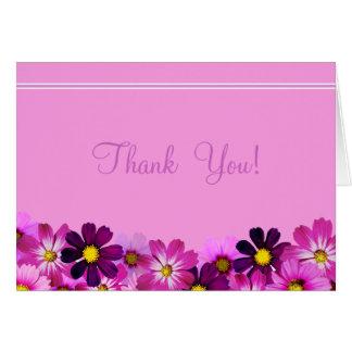 O roxo floresce todos os cartões de agradecimentos