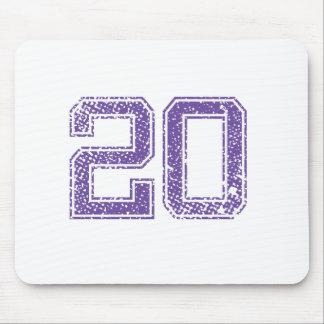 O roxo ostenta o número 20.png de Jerzee Mouse Pad