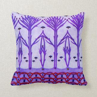 O roxo ramifica travesseiros de MoJo do americano Almofada
