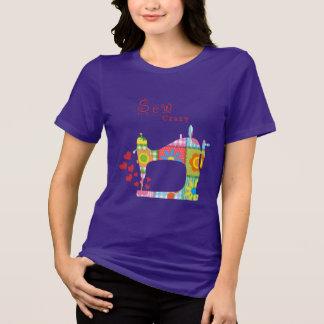 O roxo Sew camisetas engraçadas loucas por mini